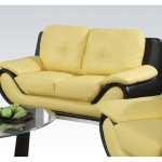 : leather couch loveseat and chair