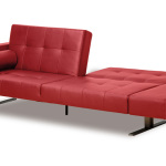 : leather couch with sleeper
