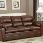 : leather pull out loveseat