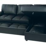 : leather sectional sleeper with storage