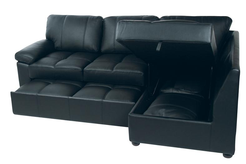 leather sectional sleeper with storage