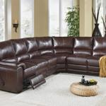 : leather sectional sofa sleeper recliner