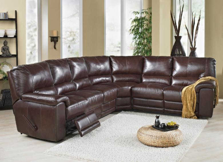 Leather Sectional Sofa Sleeper Recliner