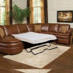: leather sectional sofa with sleeper