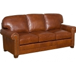 : leather sectional with queen sleeper