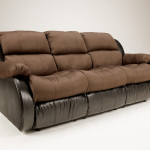 : leather sleeper sofa and reclining loveseat