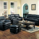 : leather sleeper sofa living room set