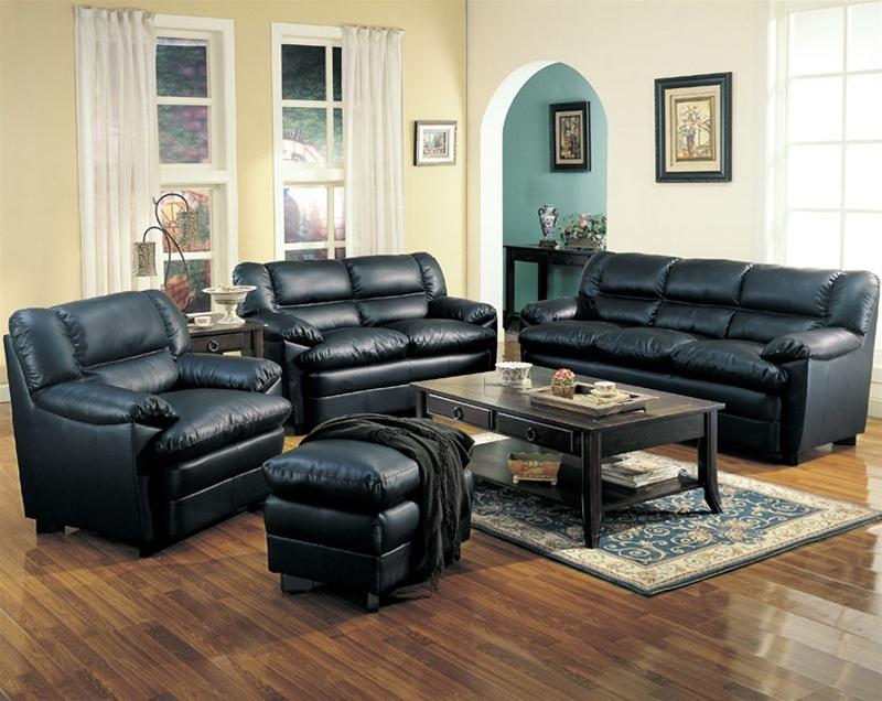 Leather Sleeper Sofa Living Room Set