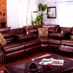 : leather sleeper sofa with nailheads