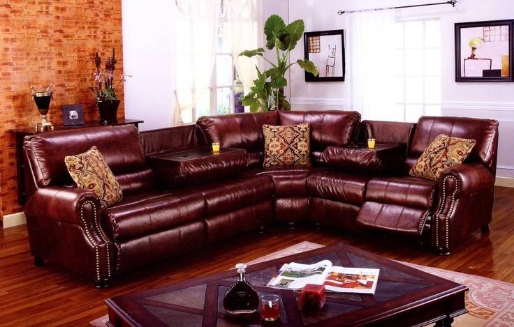 Leather Sleeper Sofa With Nailheads