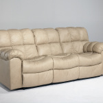 : leather sleeper sofa with recliner