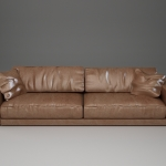 : long leather sectional sofa