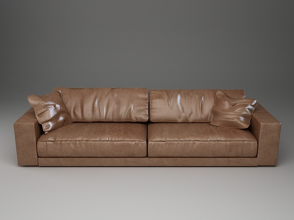 Long Leather Sectional Sofa