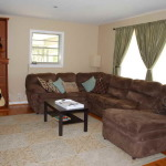 : long wrap around couches