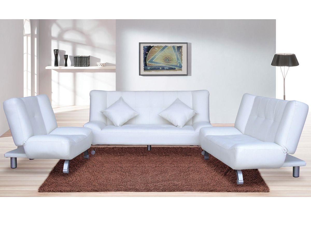 Loveseat Sofa Bed White