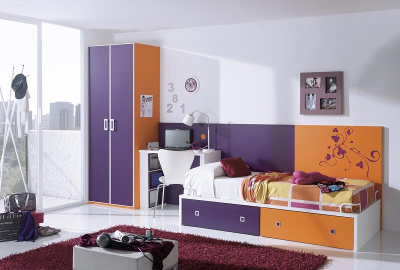 metal cabin bed with wardrobe