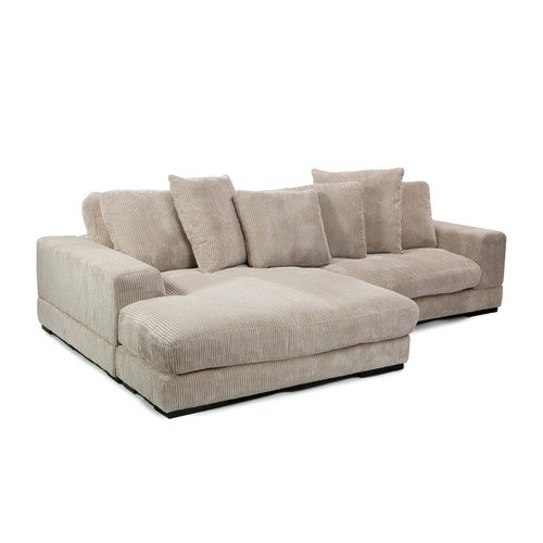Grey Microfiber Sectional Sofa.