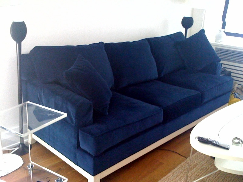 26 Photos Of The Design Your Home In Marine Style: Cool Blue Couch For Sale