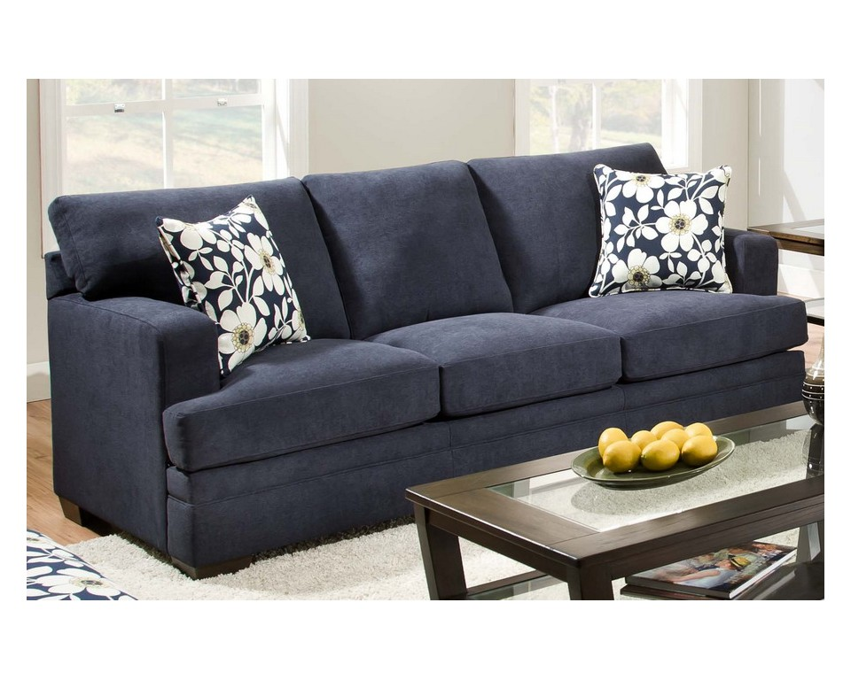 Navy Blue Leather Sofa And Loveseat