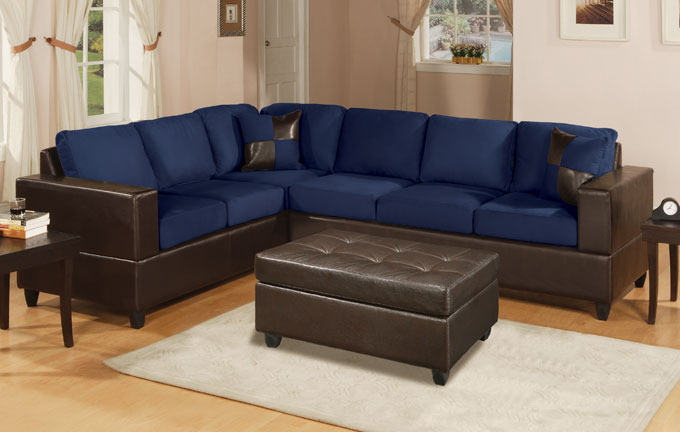Blue Leather Sofa And Loveseat Couch Sofa Ideas Interior Design