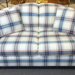 : plaid couches and loveseats