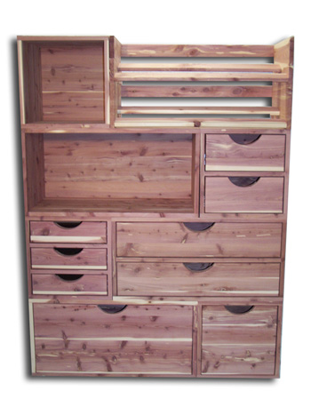 prefab closet shelving