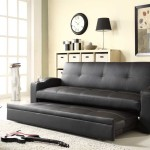 : pull out leather loveseat