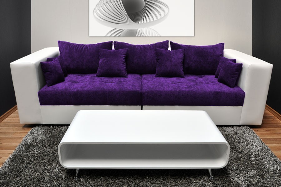 Purple sofa set couch sofa ideas interior design for Purple sofa