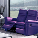 : purple recliner sofa