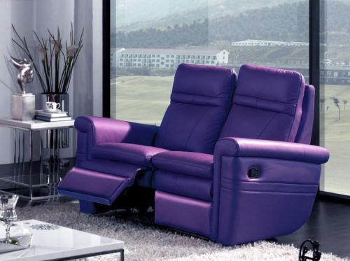 Purple Recliner Sofa