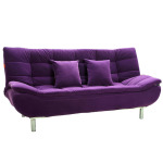 : purple sofa bed