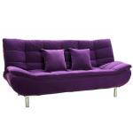 : purple sofa bed