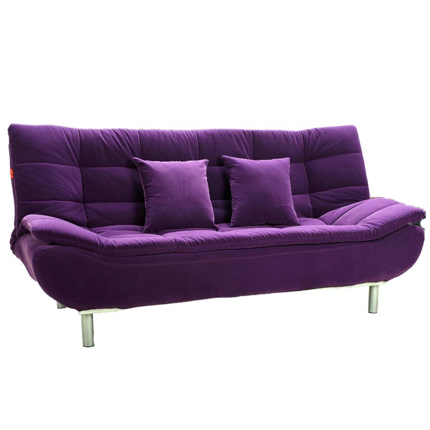 Purple sofa and yellow walls couch sofa ideas interior for Purple sofa