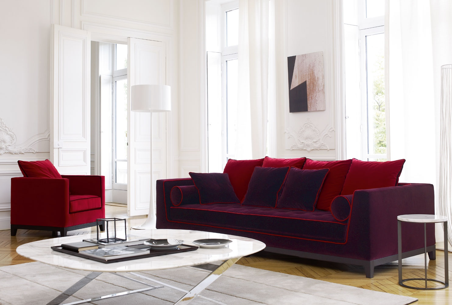 Purple Sofa Living Room