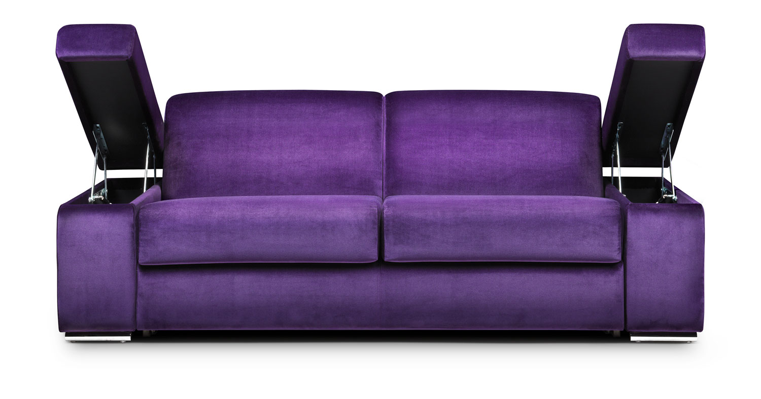 Purple Sofa And Yellow Walls Couch Sofa Ideas Interior Design