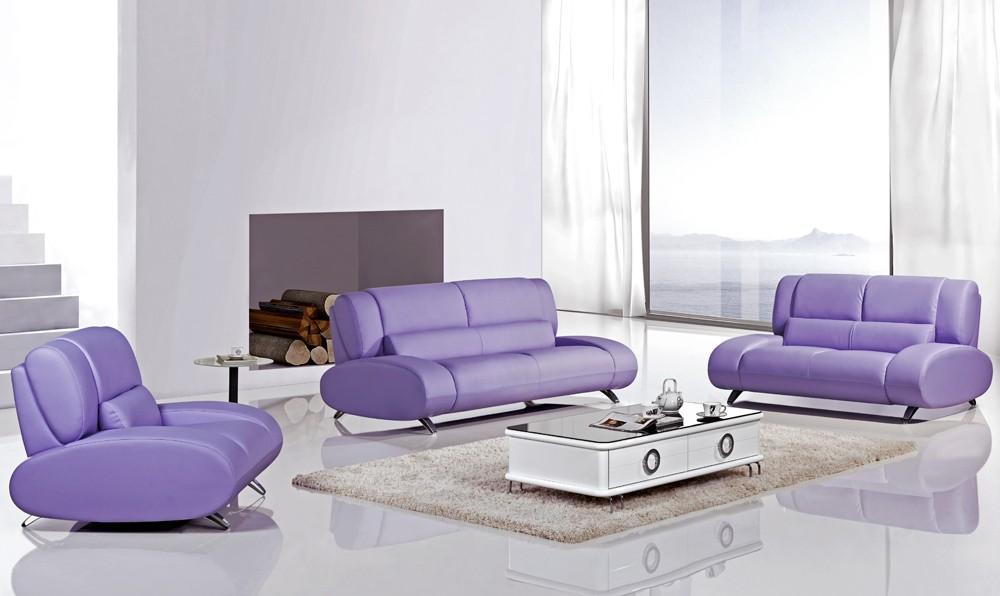 Purple Sofa Set
