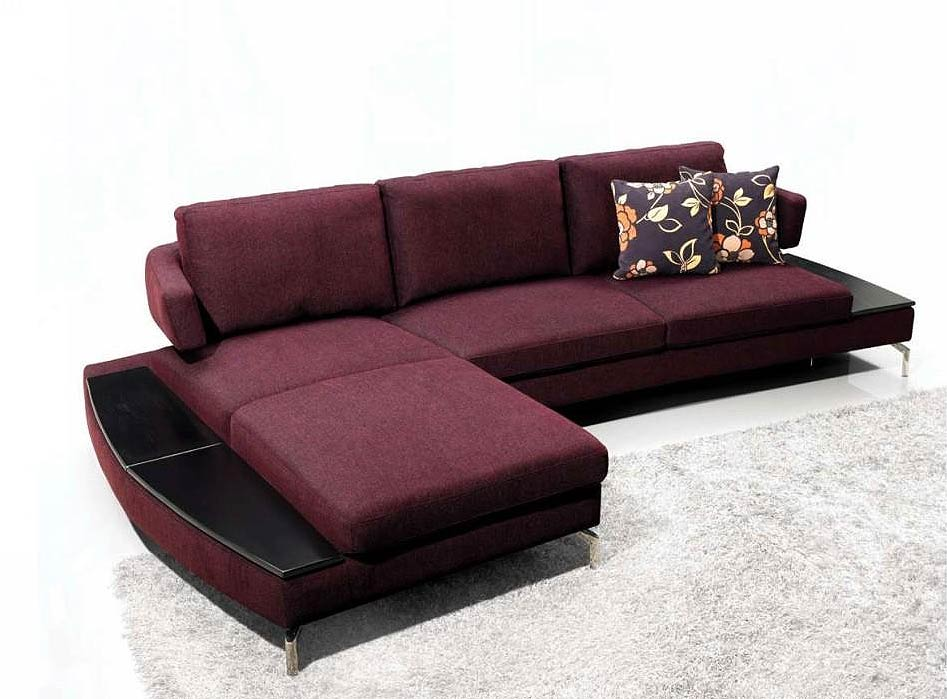 Purple Sofa With Chaise