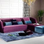 : purple sofas and chairs