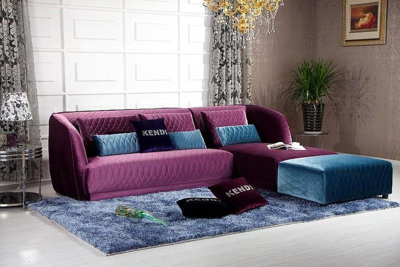 Purple Sofa And Yellow Walls Couch Amp Sofa Ideas Interior