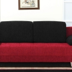 : red and black couch covers