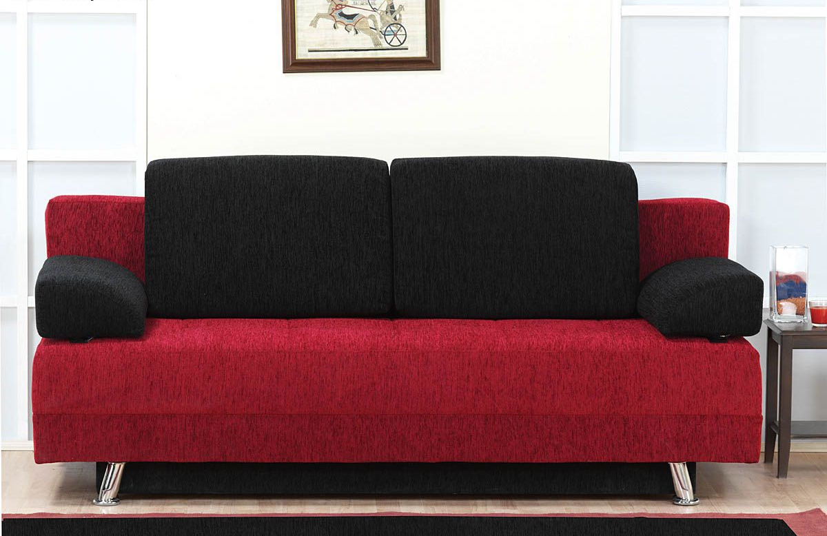 Red and black corner sofa couch sofa ideas interior for Red and black sofa bed