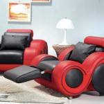 : red and black couch set