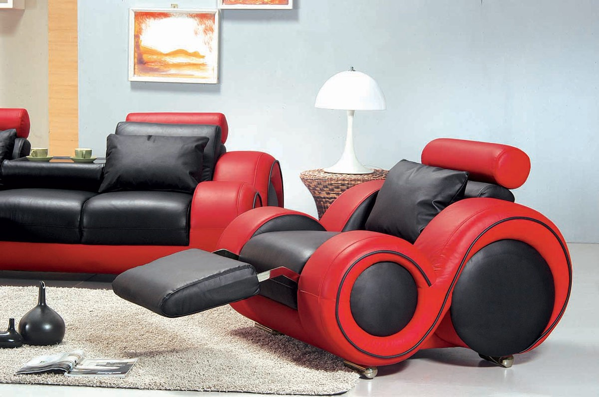 Red And Black Couch Set
