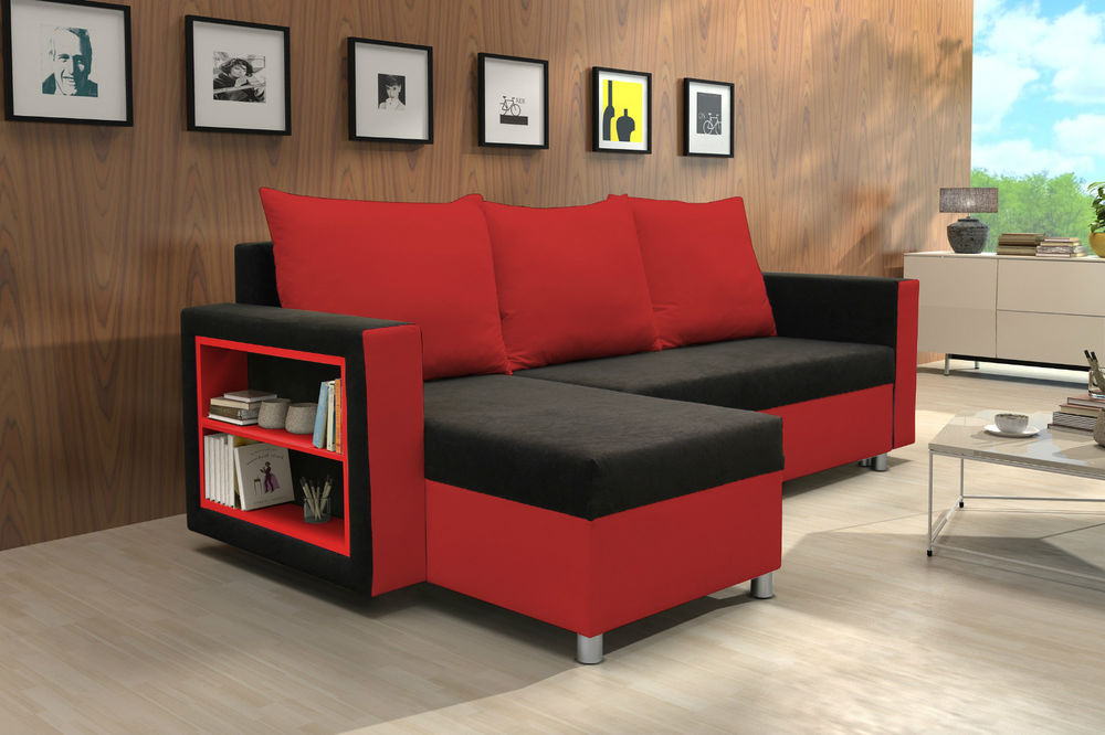 Red And Black Corner Sofa Couch Amp Sofa Ideas Interior