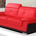 : red and black leather sofa