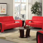 : red and black leather sofa set