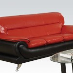 : red and black sectional couch