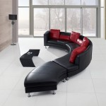 : red and black sectional sofa