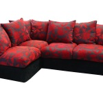 : red and black sofa
