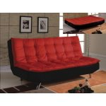 : red and black sofa bed